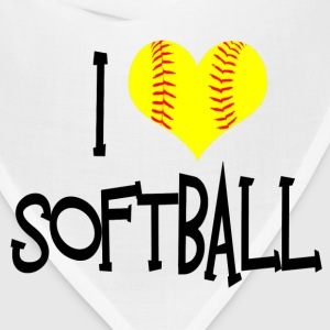 I Love Softball T-Shirts - Bandana