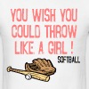 Throw LIke a Girl T-Shirts - Men's T-Shirt