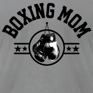 Boxing Mom Long Sleeve Shirts - Men's T-Shirt by American Apparel