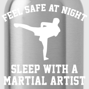 Sleep With A Martial Artist - Water Bottle