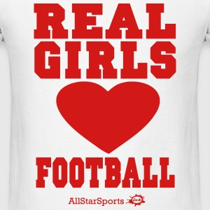 REAL GIRLS LOVE FOOTBALL Hoodies - Men's T-Shirt