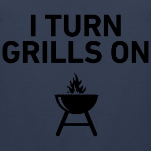 I Turn Grills On T-Shirts - Men's Premium Tank