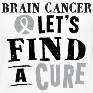 Brain Cancer Lets Find A Cure Mens Tshirt - Men's Premium Long Sleeve T-Shirt