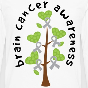 Brain Cancer Awareness Ribbon Tree Women's T-Shirts - Men's Premium Long Sleeve T-Shirt