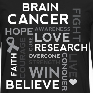 Brain Cancer Hope Fight Overcome T-Shirts - Men's Premium Long Sleeve T-Shirt