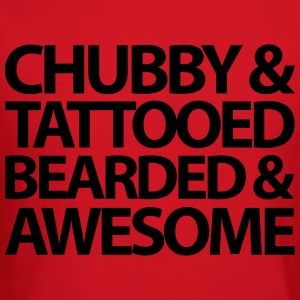 Chubby, Tattooed, Bearded  T-Shirts - Crewneck Sweatshirt