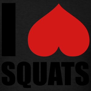 I Love Squats Hoodies - Men's T-Shirt