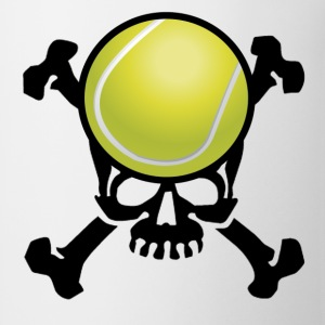 Tennis Skull T-Shirts - Coffee/Tea Mug