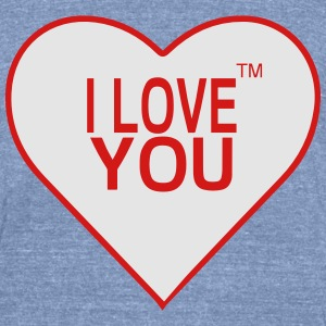 I LOVE YOU Long Sleeve Shirts - Unisex Tri-Blend T-Shirt by American Apparel