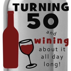 50th Birthday Wine Funny - Water Bottle