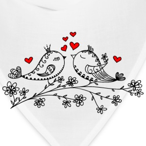Birdie Love, Heart, Bird, Valentine`s Day, Summer Women's T-Shirts - Bandana