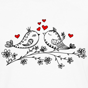 Birdie Love, Heart, Bird, Valentine`s Day, Summer Women's T-Shirts - Men's Premium Long Sleeve T-Shirt
