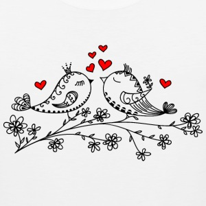 Birdie Love, Heart, Bird, Valentine`s Day, Summer Women's T-Shirts - Men's Premium Tank