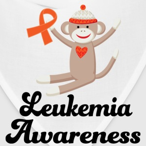 Leukemia Awareness Sock Monkey Women's T-Shirts - Bandana