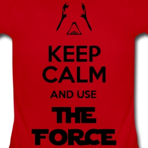 Keep Calm And Use The Force Sweatshirts - Short Sleeve Baby Bodysuit