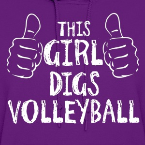 This Girl Digs Volleyball T-Shirts - Women's Hoodie