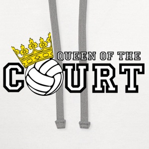 Queen of the Court T-Shirts - Contrast Hoodie