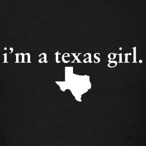 Texas Girl Pride Proud T-Shirt Tee Top Shirts Long Sleeve Shirts - Men's T-Shirt