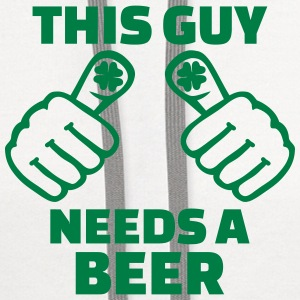 This guy needs a Beer Women's T-Shirts - Contrast Hoodie