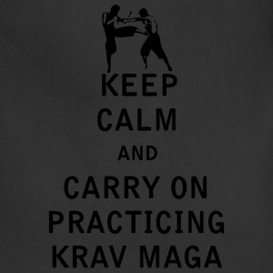 Keep Calm and Carry On Practicing Krav Maga - Adjustable Apron