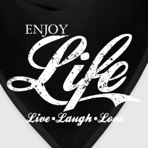 Vintage ENJOY LIFE, Live Laugh Love T-Shirt Design - Bandana