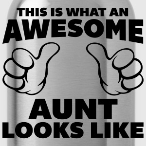 Awesome Aunt Looks Like Hoodies - Water Bottle
