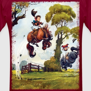 PonyRodeo Thelwell Cartoon - Men's T-Shirt