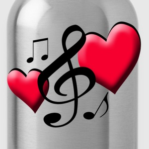 Two Hearts Music - Water Bottle