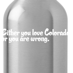 Colorado Love Pride Proud T-Shirt Tee Top Shirt Long Sleeve Shirts - Water Bottle