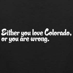 Colorado Love Pride Proud T-Shirt Tee Top Shirt Long Sleeve Shirts - Men's Premium Tank