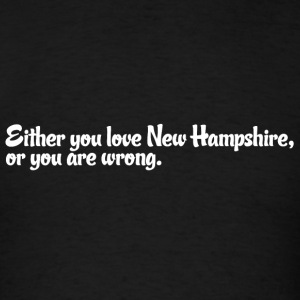 New Hampshire Love Pride Proud T-Shirt Tee Top Sh Hoodies - Men's T-Shirt