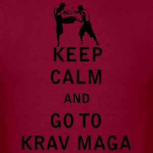 Keep Calm and Go To Krav Maga - Men's T-Shirt