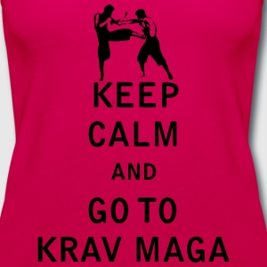 Keep Calm and Go To Krav Maga - Women's Premium Tank Top