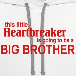 This little Heart breaker is going to be a Big Bro Kids' Shirts - Contrast Hoodie