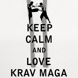 Keep Calm and Love  Krav Maga - Contrast Hoodie