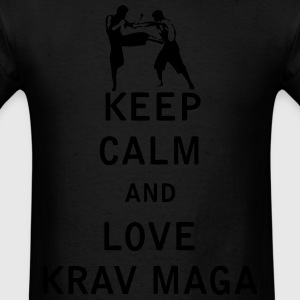 Keep Calm and Love  Krav Maga - Men's T-Shirt