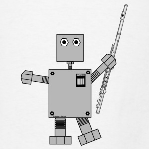 Flute Robot Other - Men's T-Shirt