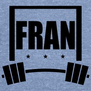 Fran Pull Up Bar and Barbell Tanks - Unisex Tri-Blend T-Shirt by American Apparel