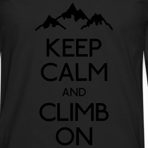keep calm rock climbing Kids' Shirts - Men's Premium Long Sleeve T-Shirt