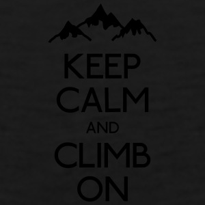 keep calm rock climbing Mugs & Drinkware - Men's Premium Tank