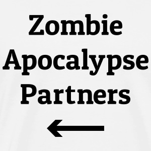 zombie apocalypse partners Hoodies - Men's Premium T-Shirt