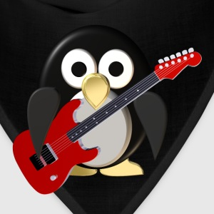 Funny penguin with guitar T-Shirts - Bandana