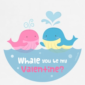 Be My Valentine Whale Pun Mugs & Drinkware - Adjustable Apron