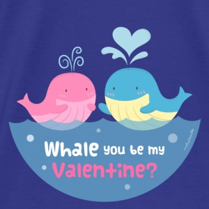 Be My Valentine Whale Pun Bags & backpacks - Men's Premium T-Shirt