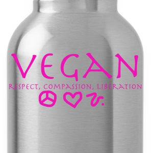 Vegan Respect Compassion Liberation Women's T-Shirts - Water Bottle