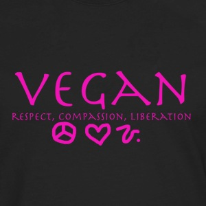 Vegan Respect Compassion Liberation Women's T-Shirts - Men's Premium Long Sleeve T-Shirt