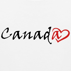 Canada with a stylish red heart - Men's Premium Tank