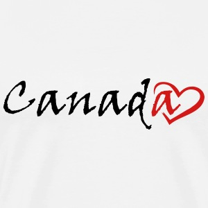 Canada with a heart - Men's Premium T-Shirt
