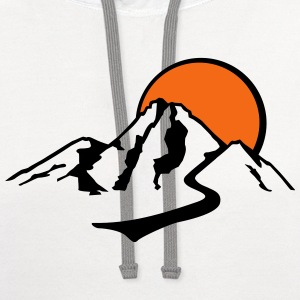 Mountain T-Shirts - Contrast Hoodie