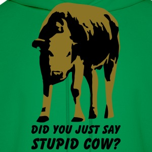 Stupid cow? T-Shirts - Men's Hoodie